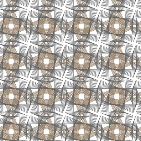 Guilloche vector seamless micro pattern. Grey background with thin lines and optical blending effect