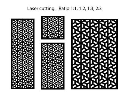 Laser cut decorative vector panel set. Jali design, cnc decor, interior design element. Islamic, arabic laser cutting.