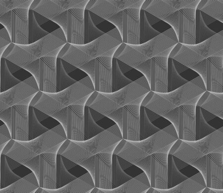 Guilloche grey 3d grid background. Guilloche vector seamless pattern with thin lines.
