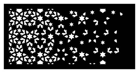 Decorative vector panel,screen for laser cutting. Arabesque laser pattern. Islamic template for interior panel in arabesque style. Ratio 1 2.
