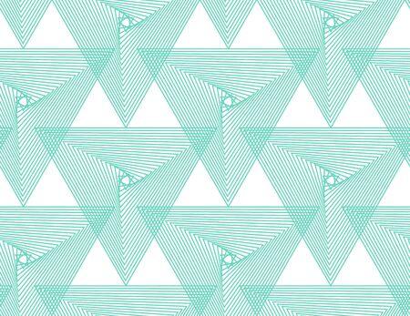 Aqua Menthe,Neo menthe,émeraude, modèle sans couture de vecteur géométrique turquoise.Couleur 2020. Répéter la texture dans les couleurs de la menthe néo pour l'arrière-plan, le papier peint, la mode, la couverture, l'emballage, la conception web.
