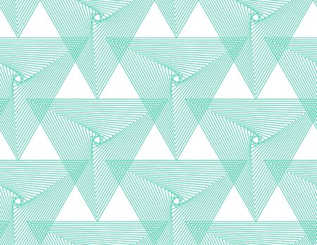 Aqua Menthe,Neo mint,emerald, turquoise geometric vector seamless pattern.Color 2020. Repeating texture in neo mint colors for background, wallpaper, fashion, cover, wrapping, web design.