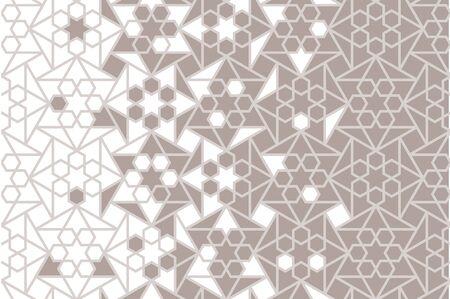 Islamic arabic vector background, pattern, texture. Geometric arabic halftone texture with mosaic disintegration.