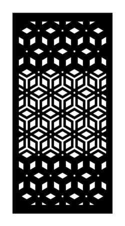 Laser cut vector panel, screen, fence, divider. Cnc decorative pattern, interior element. Islamic  arabic laser cutting Vettoriali