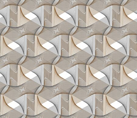 Guilloche vector seamless brown pattern. Color background, backdrop for flyer, coupon, voucher, ticket, cheque, gift card design. Guilloche texture.