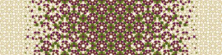 Rich, luxury arab vector pattern. Geometric halftone arab pattern with color tile disintegration.
