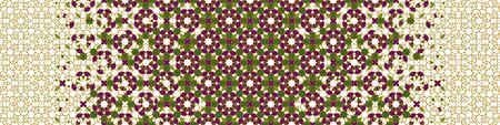 Rich, luxury arab vector pattern. Geometric halftone arab pattern with color tile disintegration.