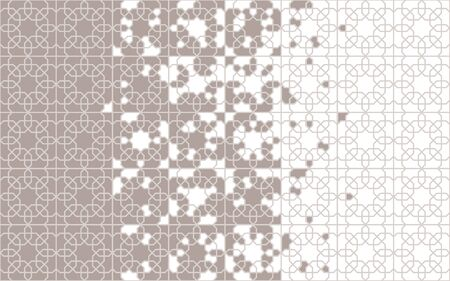 Moroccan, islamic pattern. Tile seamless vector pattern. Geometric halftone border with moroccan mosaic disintegration.
