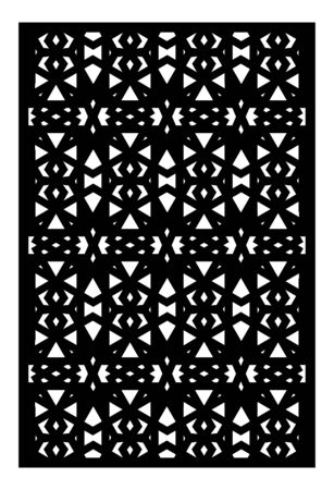 Decorative vector panel for laser cutting. Template for interior partition in arabesque style. Ratio 2 to 3. Çizim