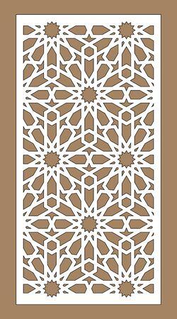 Laser cut vector panel. Cnc decor pattern, jali design, interior partition. Islamic,arabic laser cutting.