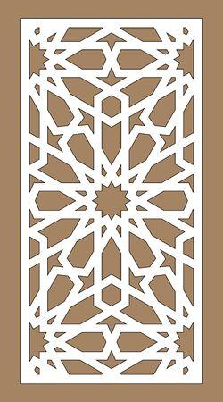 Lazer cut vector panel. Cnc decor pattern, jali design, interior partition. Islamic,arabic lazer cutting.