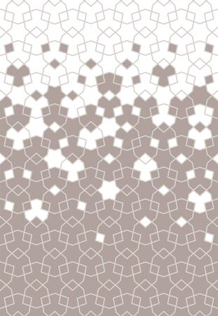 Arab geometric flower star vector pattern, border, texture, wallpaper, decoration. Geometric arab halftone pattern with color tile disintegration.