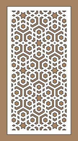 Laser cutting vector panel template. Cnc decor pattern, jali design, interior partition. Islamic,arabic laser cutting pattern.
