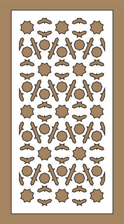 Laser cutting. Arabesque decorative vector panel. Template for interior partition in arabic style. Laser cutting design.