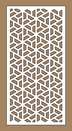 Cnc decorative pattern, jali design, interior element. Islamic , arabic laser cut kit bundle. Shade screen, privacy fence template. Laser cut vector panel, screen, fence, divider. Stock Illustratie