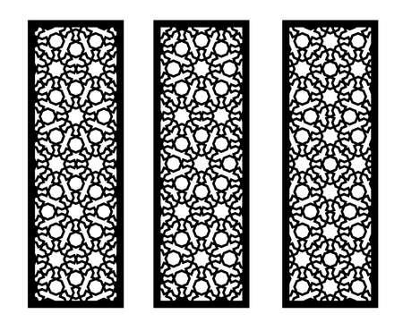 Lazer cut vector panel. Cnc decor pattern, jali design, interior partition. Islamic,arabic lazer cut.