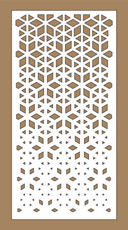 Laser cutting. Arabesque decorative vector panel. Template for interior partition in arabic style. Laser cutting design. 向量圖像