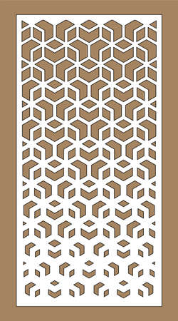 Cnc decorative pattern, jali design, interior element. Islamic , arabic laser cut kit bundle. Shade screen, privacy fence template. Laser cut vector panel, screen, fence, divider. Vektorové ilustrace
