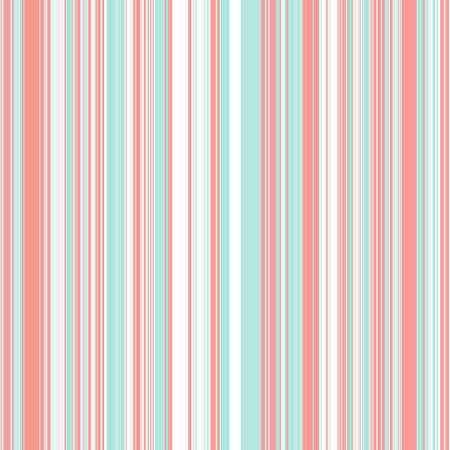 Striped pattern with mint and coral colors. Lines for background, poster, postcard, card, banner, cover, textile, interior design, brochure.Vector seamless pattern.