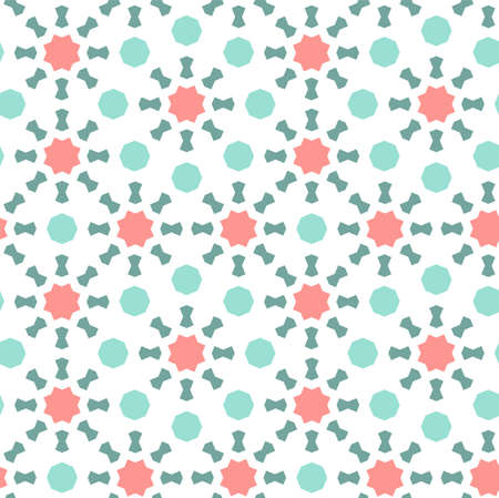 Arabic islamic vector pattern, border, decor, texture, background. Geometric seanless pattern with arabic color mosaic.