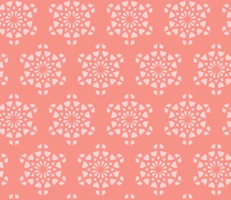 Arabesque vector wallpaper, texture, background,pattern. Geometric arabesque halftone texture with color tile disintegration. Ilustração