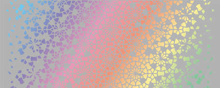 Holographic vector background. Geometric hologram, background pattern.