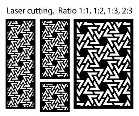 Cnc decorative pattern, jali design, interior element. Islamic , arabic laser cut kit bundle. Shade screen, privacy fence template. Laser cut vector panel, screen, fence, divider. Ilustração