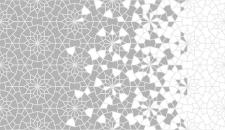 Arabesque vector border, wallpaper, texture, background,pattern. Geometric arabesque halftone texture with color tile disintegration.