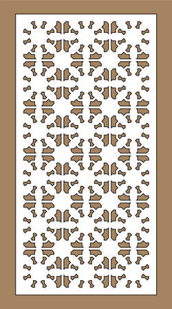 Arabic islamic decorative wall, screen, panel pattern with stars. Vector template. Decorative vector panels for laser cutting. Template for interior partition in arabesque style. Ilustração