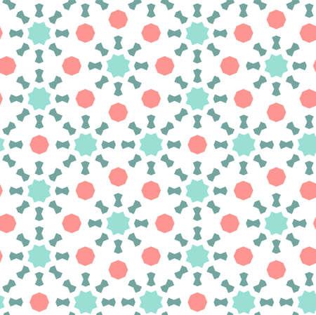 Arabic islamic vector pattern, border, decor, texture, background. Geometric seamless pattern with arabic color mosaic.
