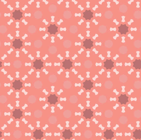 Living coral seamless geometric pattern. Vector repeating texture,pattern for fabric design, cloth, textile. Ilustração