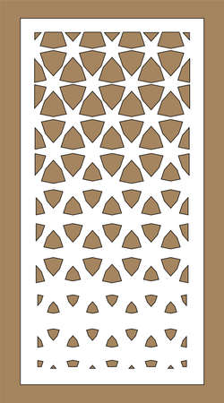 Arabesque vector gradient panel. Laser cutting. Template for interior partition in arabic style. Laser cut screen, panel.