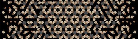Geometric modern dark islamic pattern. Geometric halftone texture with color tile disintegration.