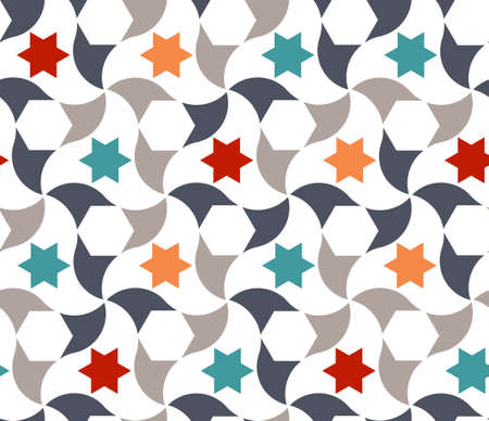 Geometric arabic stars pattern. Arabic vector texture, pattern with stars for cloth, textile, wrapping, wallpaper design