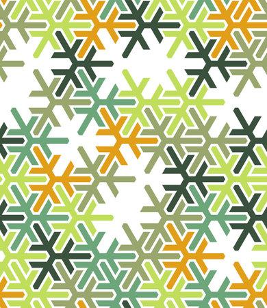 Geometric green islamic pattern. Color geometric arabic vector texture for cloth, textile, wrapping, wallpaper Illusztráció
