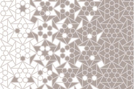 Islamic arabic vector background. Geometric arabian halftone texture with mosaic disintegration