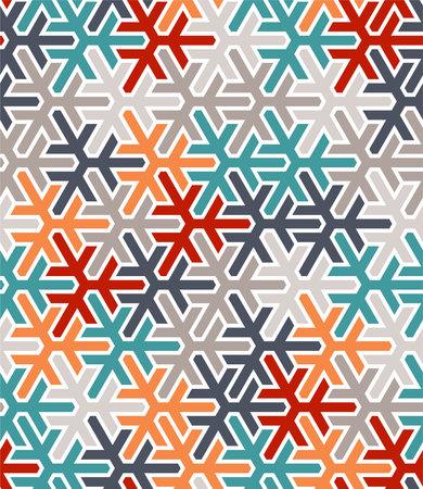 Geometric islamic pattern. Color geometric arabic vector texture for cloth, textile, wrapping, wallpaper. Illusztráció