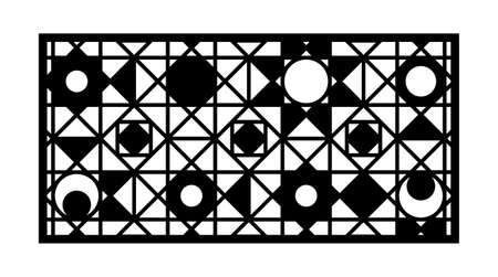 Modern cnc pattern. Decorative panel, screen,wall. Vector cnc panel for laser cutting. Template for interior partition, room divider, privacy fence