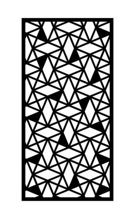 Geometric panel, screen, fence. Modern cnc pattern. Laser cutting template for interior partition, room divider, privacy fence