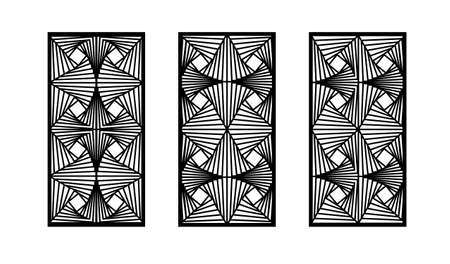 Abstract panel, screen,wall. Decorative vector screen for laser cutting. Template for interior partition, room divider, privacy fence. Modern cnc pattern