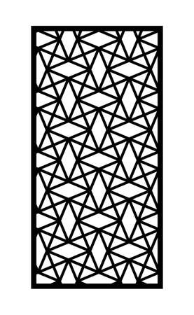 Decorative panel, screen,wall. Modern cnc pattern. Vector panel for laser cutting. Template for interior partition, room divider, privacy fence Illusztráció