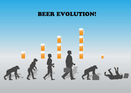 human evolution: Influence of alcohol on development of the person