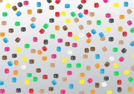 Background With Considerable Quantity Of Multi Coloured Game Cubes Stock Vector