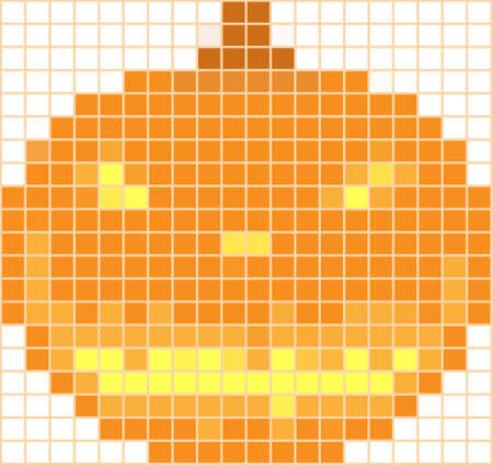 Pumpkin mosaic on a white background by a holiday halloween Vector