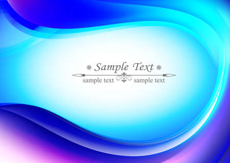 smoothness: light blue background oval shape, gentle, pleasant in the middle there is a place for text