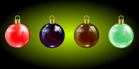 specular: set of Christmas colored specular highlights, reflection of beads