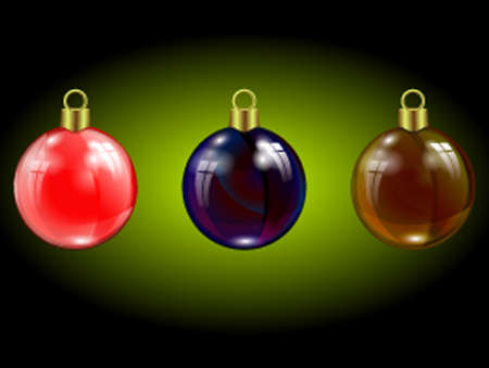 specular: set of Christmas colored specular highlights, reflection of window beads
