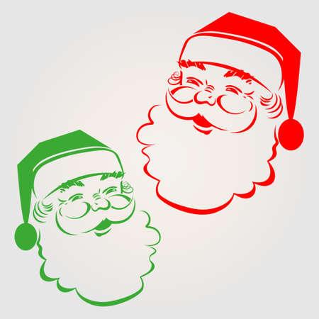 Illustration der Silhouette lustige Weihnachtsmann