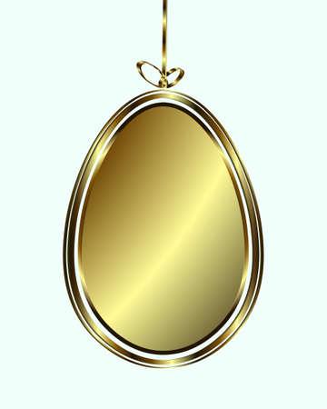 gold egg: Egg gold color