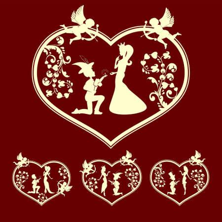 faithfulness: silhouettes of the Prince and Princess set